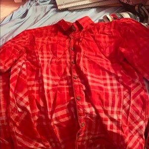 Red plaid shirt